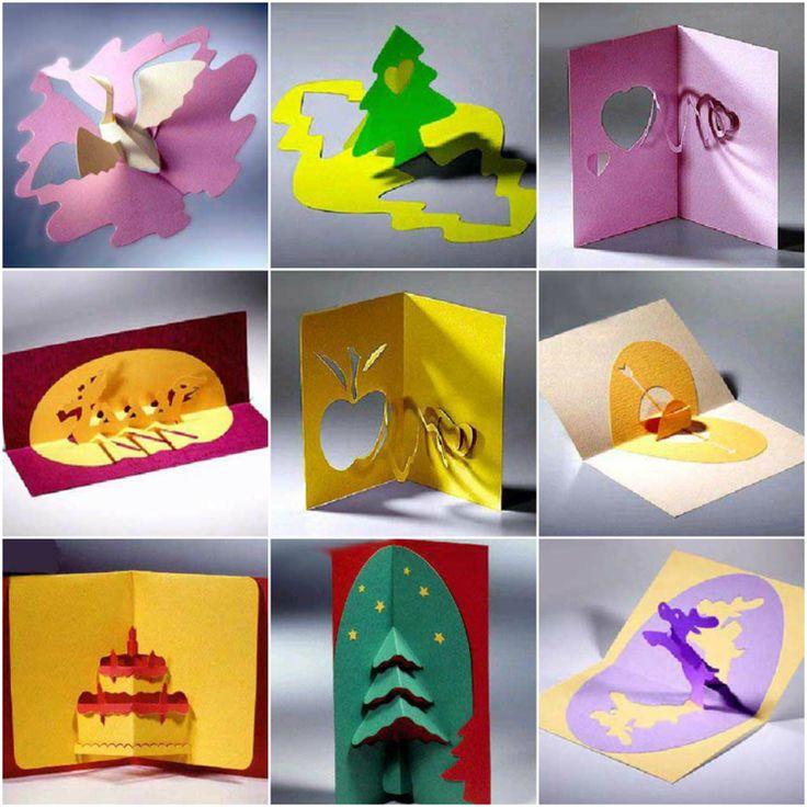 kirigami vorlagen pop up Karten motive #paper #art