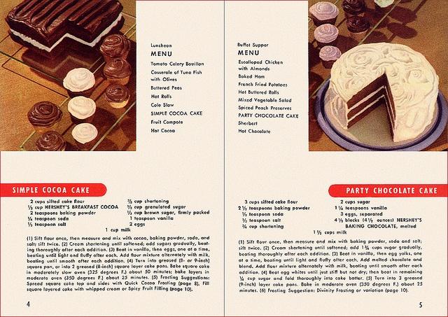 Hersheys Recipes (3), 1949 by alsis35, via Flickr