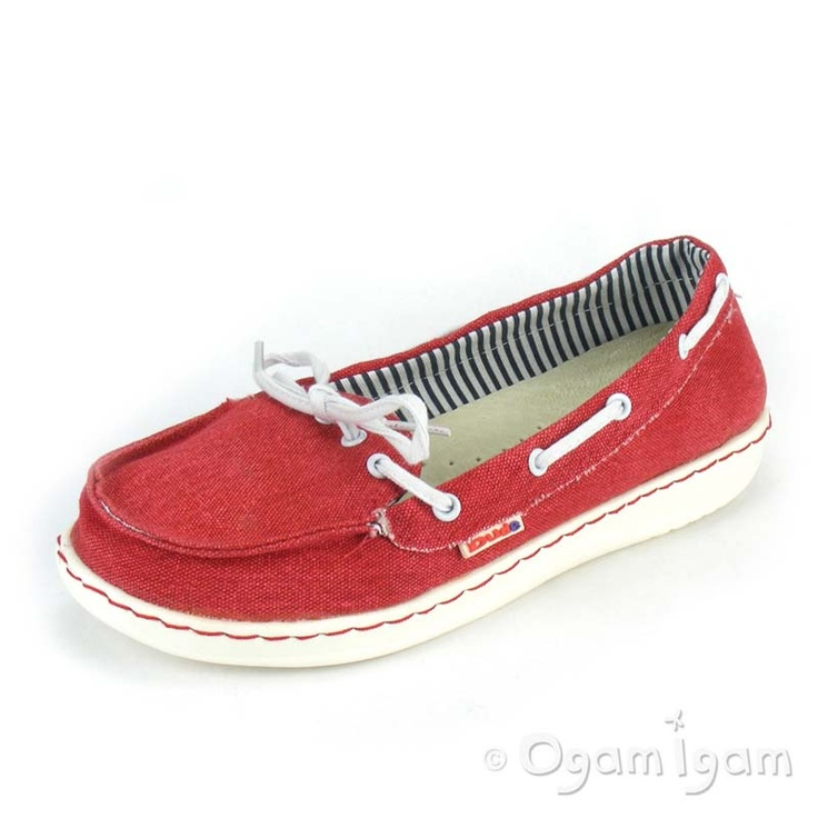 Dude moka womens red canvas deck shoe clothes amp shoes pinterest