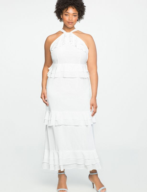 11 All White Fashion Finds You Can Rock Now! http://thecurvyfashionista.com/2017/04/plus-size-all-white/  Loving this tiered white dress from Eloquii!    Looking for a few fun white plus size fashion finds for the spring? Well, we have rounded up a few fun finds for you to rock NOW into the late summer! Take a peek!