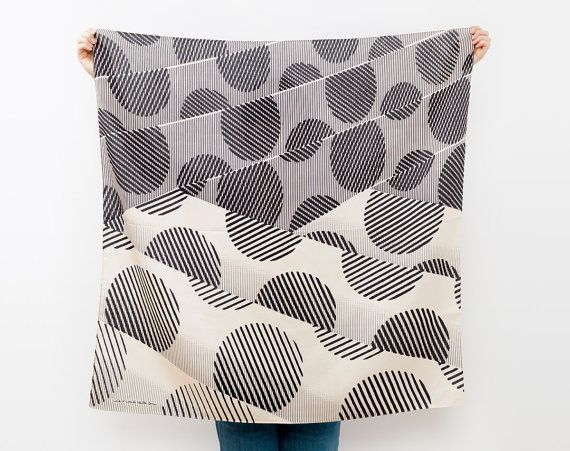 Japanese Furoshiki Scarf by Kyoko Bowman via Cool Mom PicksWraps Clothing, Pattern, Furoshiki Wraps, Dots Furoshiki, Textiles, Japan Furoshiki, Black Dots, Dots Black, Link Collection