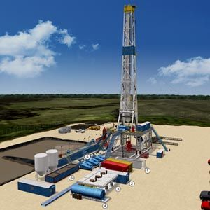 Oil and Natural Gas Drilling Rig Diagram