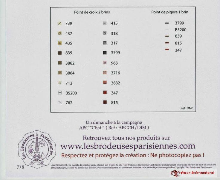 Cat Alphabet color chart