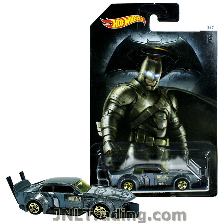 Hot Wheels Year 2015 Batman vs Superman Dawn of Justice Series 1:64 Scale Die Cast Car Set 3/7 - BATMAN MAD MANGA DJL52