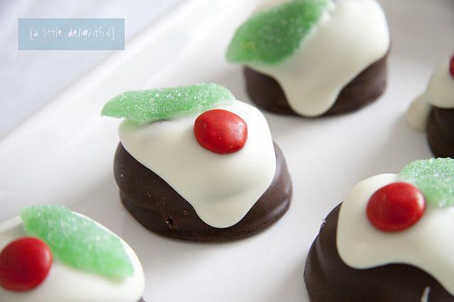 Soooooooo easy. Pretty little christmas treats!