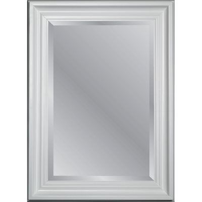 allen + roth 95065 31.75-in x 43.75-in White Beveled Rectangle Framed Country…