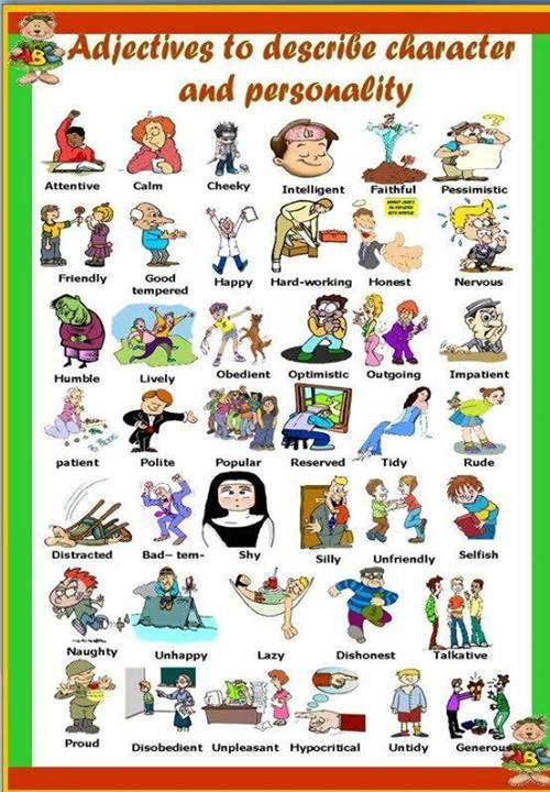 Adjectives to describe character and personality