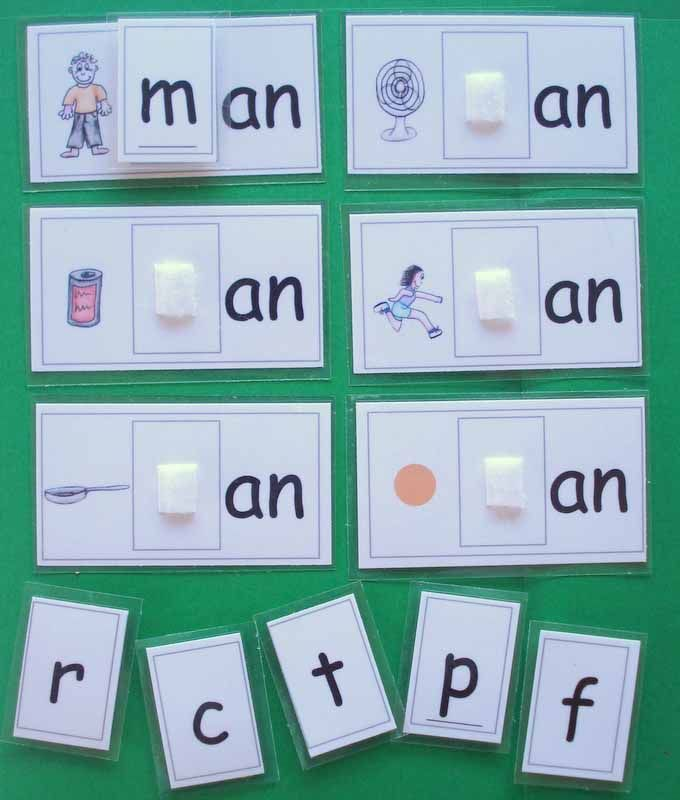 Easy Phonics game to help children understand initial sounds and end blends
