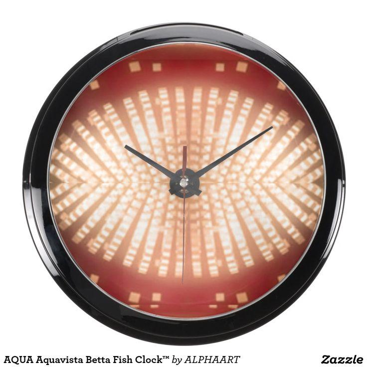AQUA Aquavista Betta Fish Clock™ Fish Tank Clocks