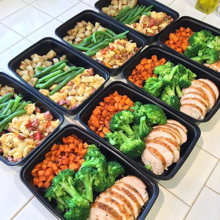 "If you keep good food in your fridge you will eat good food! Get started with this sweet and simple meal prep from @fitness.woohoo "" Sunday meal prep! I bought new meal prep containers and was super excited to use them! Breakfast: egg scramble( sausage on"