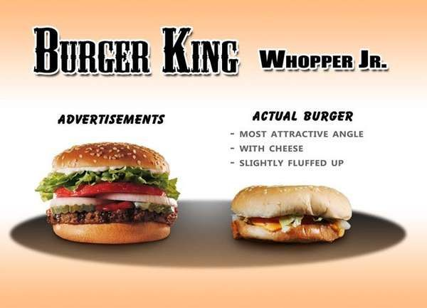 The Best Fast Food Advertising Ideas On Pinterest Diner Menu - Fast food ads vs reality the truth unveiled by these photos