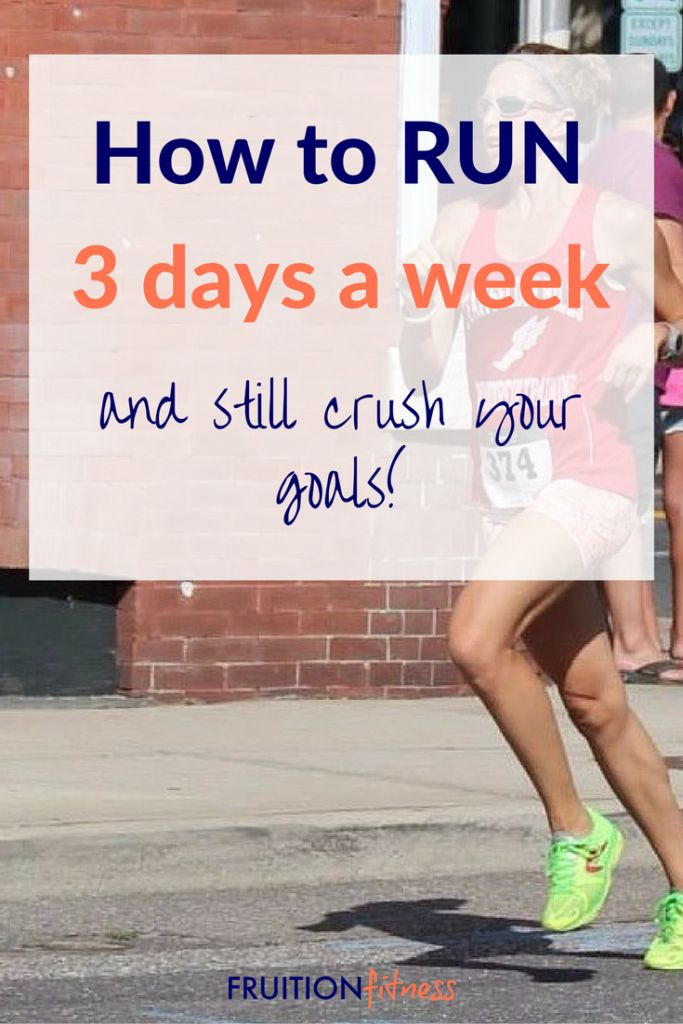 The 3 Day a Week Running Plan:http://fruitionfitness.com/3-day-a-week-running-plan/