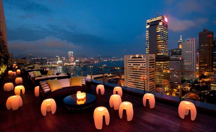 Sevva, with its 360-degree views of Hong Kong and the historic harbourRooftops Bar, Hong Kong, Favorite Places, S'More Bar, S'Mores Bar, Hongkong, Sevva, Design Interiors, Fashion Art