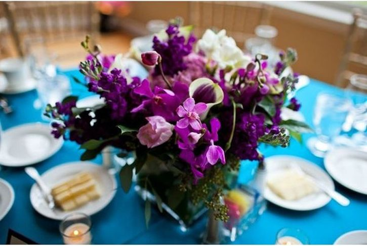 1000 ideas about teal wedding centerpieces on pinterest - Purple and teal centerpieces ...
