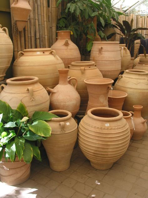 We Have A Large Variety Of Greek Terracotta Pots And Jars Perfect For Any Sized Garden