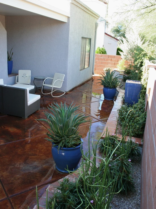 Patio Stained Concrete Design, Pictures, Remodel, Decor and Ideas
