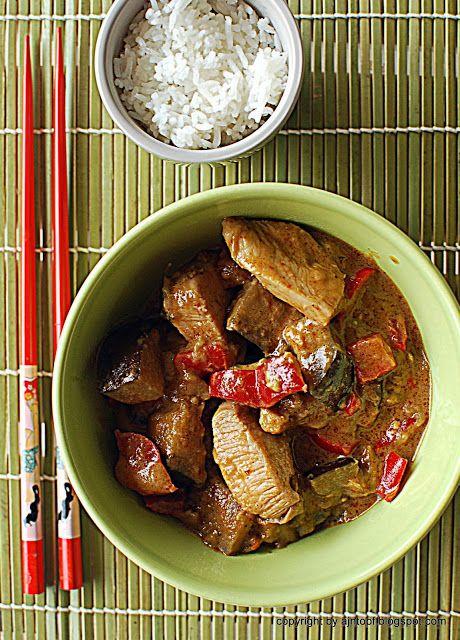 eintopf: tajski bakłażan curry z kurczakiem