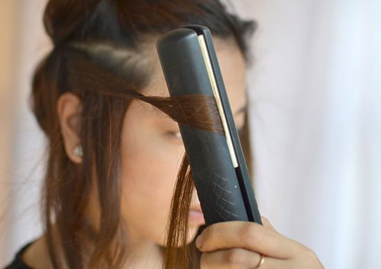 """hair kept a curl!"""" How to Curl Hair with Straighteners: 9 steps"""
