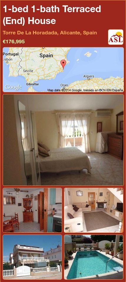 1-bed 1-bath Terraced (End) House in Torre De La Horadada, Alicante, Spain ►€176,995 #PropertyForSaleInSpain