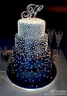 Resultado de imagen para 15 años torta azul