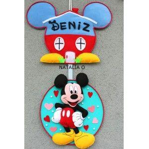 Mickey Mouse Bebek Kapı Süsü