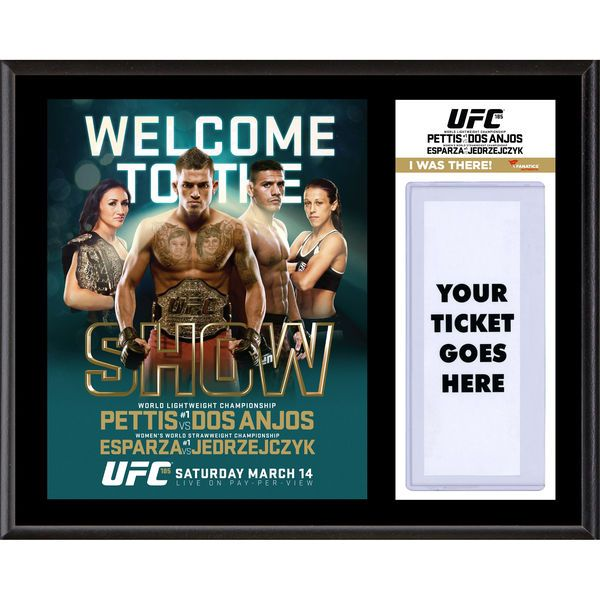 "Fanatics Authentic UFC 185 Anthony Pettis vs. Rafael dos Anjos Dueling ""I Was There"" 12"" x 15"" Sublimated Plaque - $39.99"