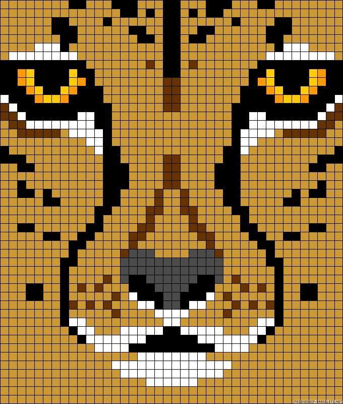 Animal mountain lion cross stitch.