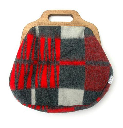 bag; wool blanket
