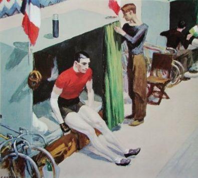 Edward Hopper Radrennfahrer beim Sechs-Tage-Rennen