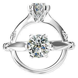 Harout R Engagement Ring with Teardrop Bezels