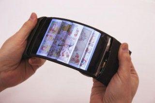 ReFlex: Smartphone flexível revolucionário permite que os usuários sintam o zumbido dobrando seus aplicativos.  Eletrônica Flexível, Gadget Futurista, Tecnologia Futura