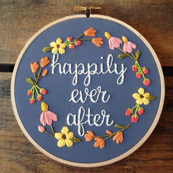 Happily Ever After embroidery hoop art by itsonlyyou on Etsy