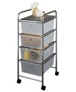 4 Drawer Storage Trolley on Wheels.