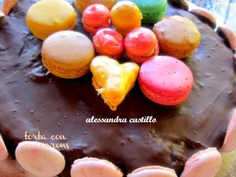 Macarons torta .ricette giallo zafferano