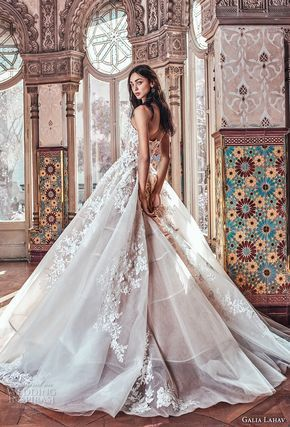 b6f1d240503ff galia lahav spring 2018 bridal strapless sweetheart neckline heavily  embellished bodice romantic princess blush color ball gown a line wedding  dress chapel ...
