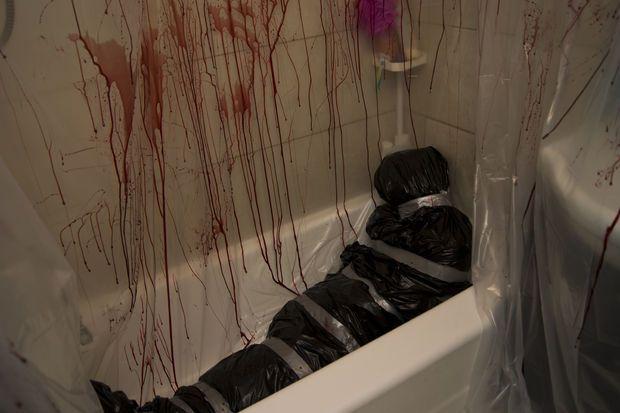 Picture of Murder scene Halloween decor