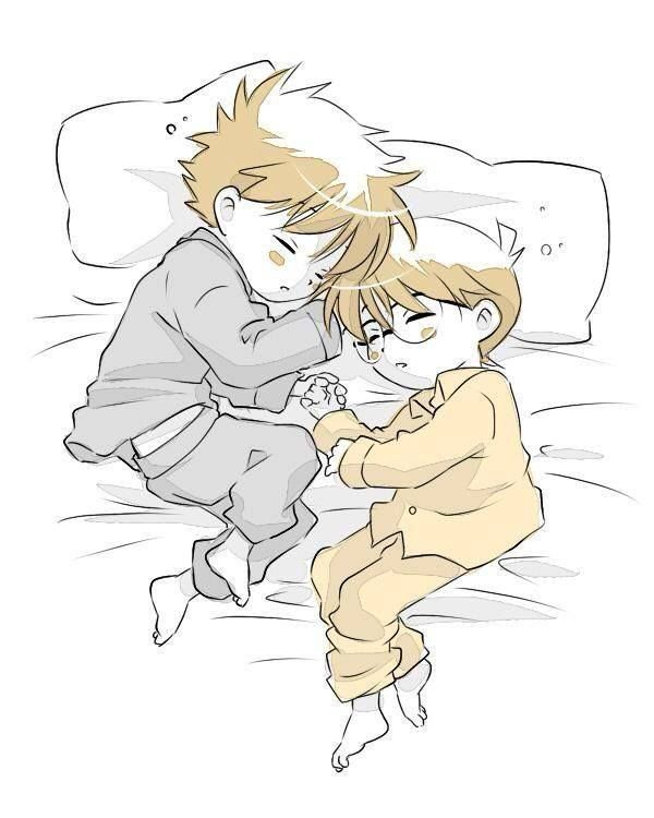 --Kaito Kid and Shinichi - so cute!! *-*