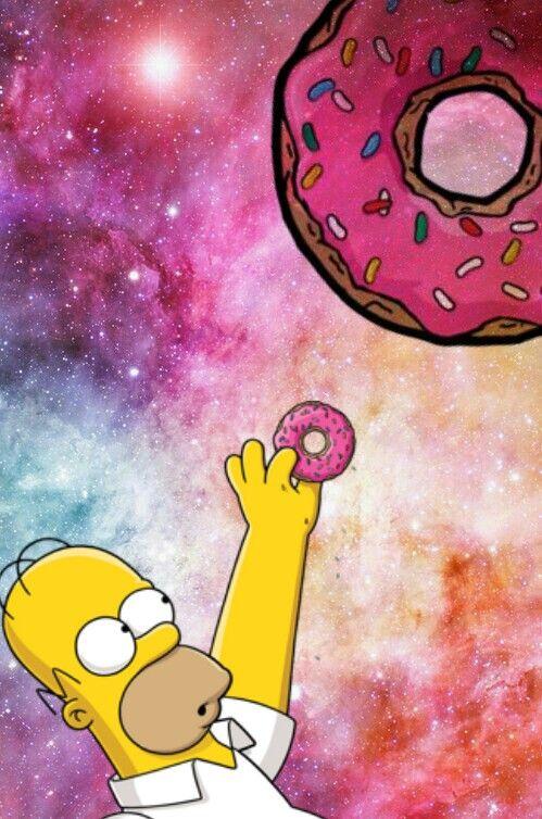 обои пончики симпсоны всегда подозревал, что