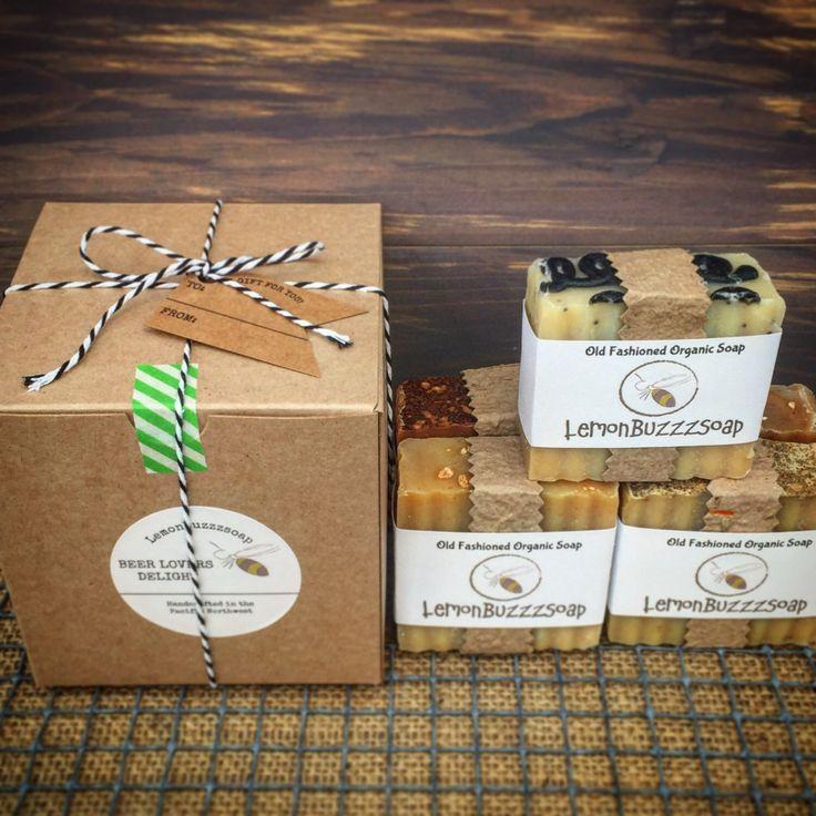 BEER LOVER'S Delight+Organic Craft Beer Soap+Mens Gift Set+Gift For Men+Beer Gift+Mens Soap Set+Manly Gift+Organic Soap Gift Set+Beer Soap by lemonbuzzzsoap on Etsy https://www.etsy.com/listing/227160793/beer-lovers-delightorganic-craft-beer