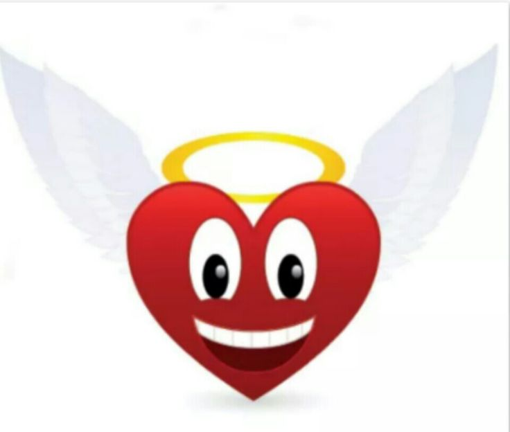 Angel Heart Emoticons Angel Heart Heart Emoticon Heart