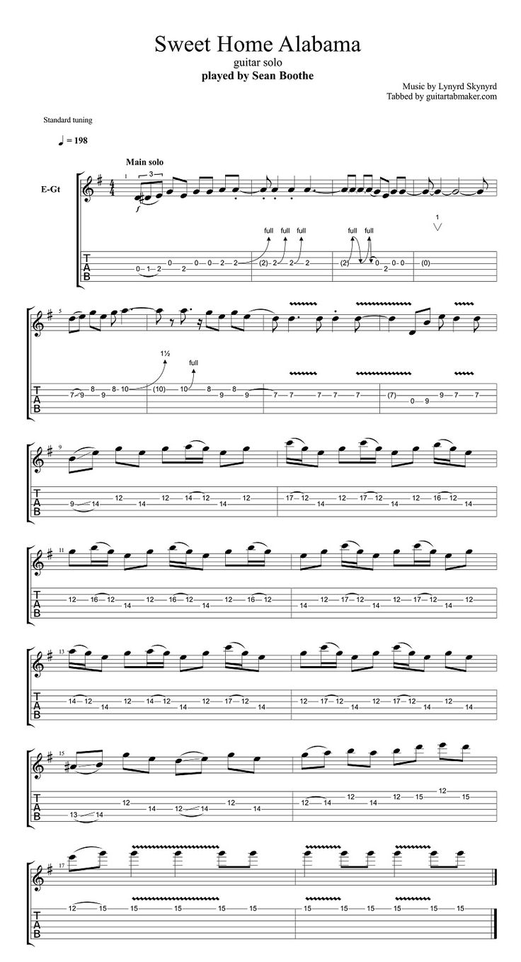 song comparison sweet home alabama and Sweet home alabama - lynyrd skynyrd strumming pattern: this one is a little tricky as there is a bunch of picking within the chords.