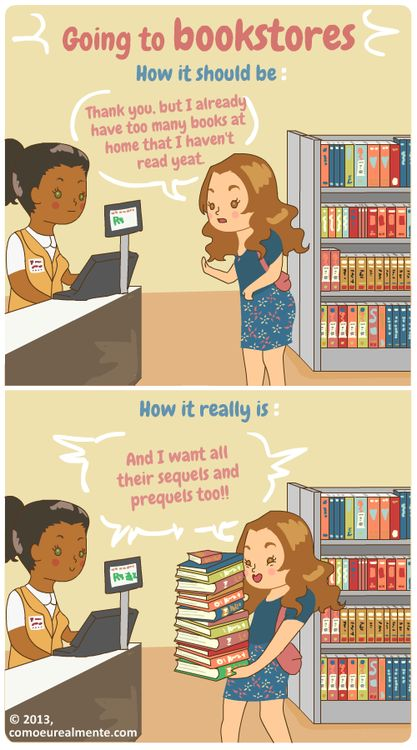 Going to bookstores . . .