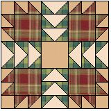 'Wild Bears' - a 'Bears Paw' pattern variation that looks great in plaids.