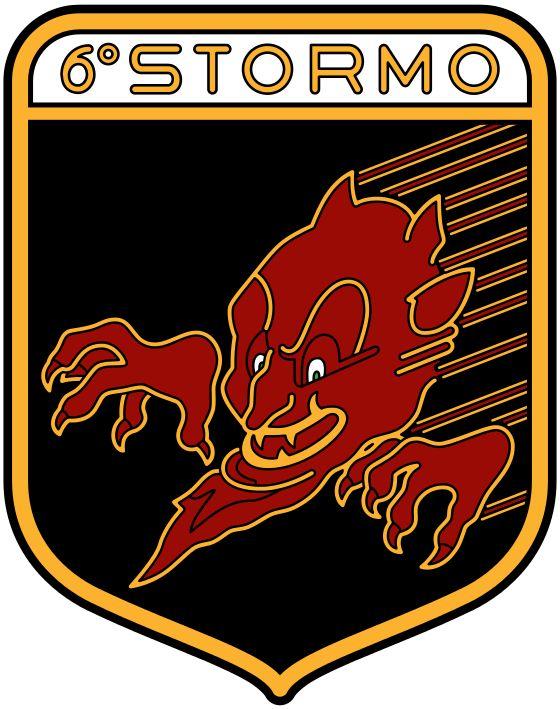 Stemma del 6° Stormo Cacciabombardieri - Aereonautica Militare Italiana