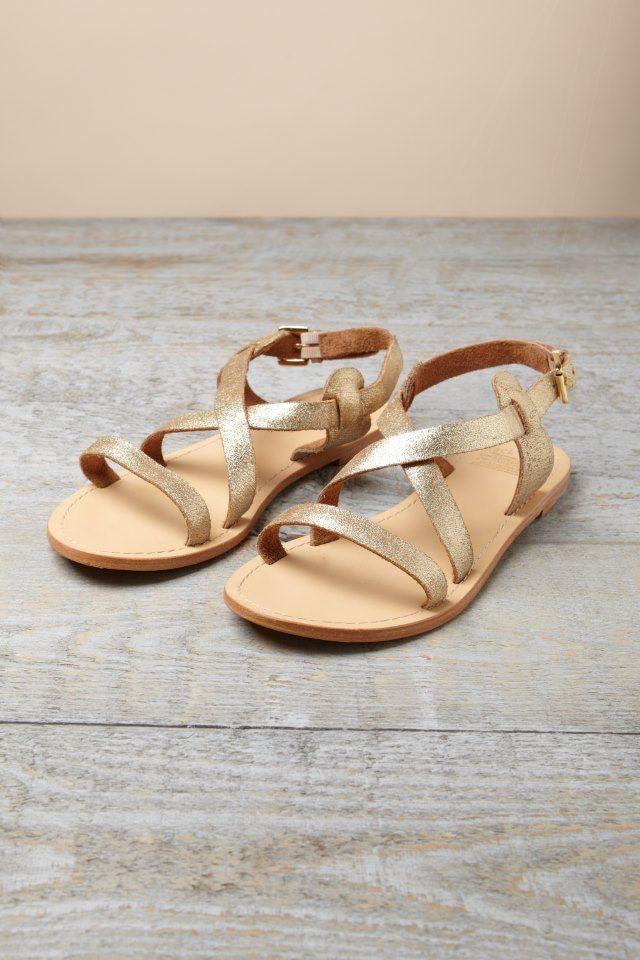 Sandalias doradas ☑