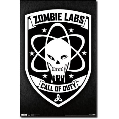 call of duty black ops zombie labs video game poster