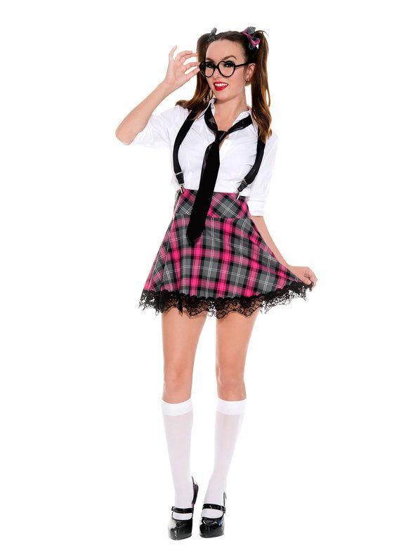 Sexy Adult School Girl High Class Nerdy Costume
