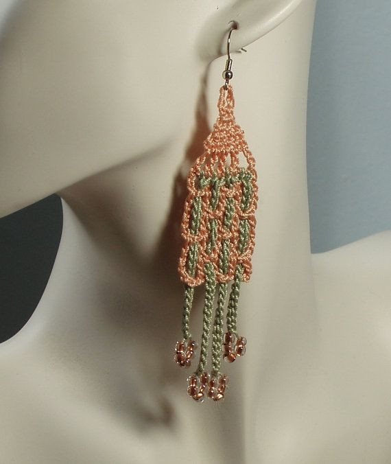 Woven earrings by iceice on Etsy, $22.00