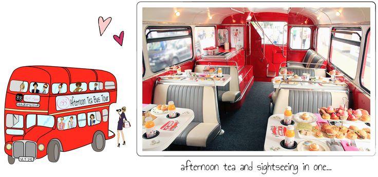 Tea on a bus!