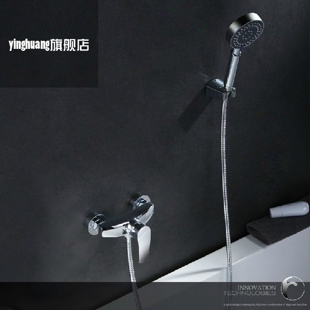 Bathroom hot cad cold handheld Shower Faucet Bath Faucet Mixer Tap With d Shower Head Shower Faucet Set Wall Mounted